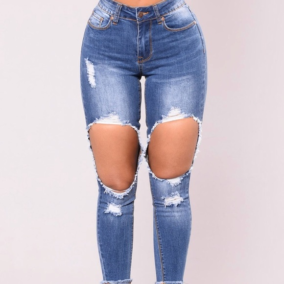 5c4fa8c864a Fashion Nova Jeans | Fashionnova Super Distressed Skinny | Poshmark